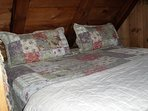 King bed or two twins in loft; retreat here and never leave! Window overlooks Sawyer Notch.