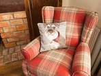 Contemporary soft furnishings are throughout the property
