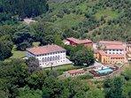 The magnificent private Estate of the Villa Guinigi Borgo di Matraia - Lucca