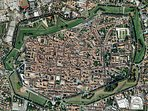 Aerial view of historic Lucca