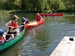 Canoeing on our front lake  Sessions can be tailored to suite the group ..