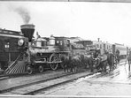 1905 arrival of the first passenger train in Whitefish.