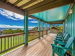 Lower level lanai with ocean view!