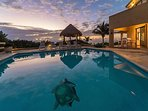 Nicte Ha Pool Area at Dawn.