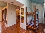 Queen bedroom with bunk bed for children