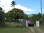 Entrance to your holiday home with safe private parking.