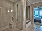 As will the walk-in shower and relaxing soaking tub.