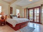 Master Bedroom showing French doors to Veranda