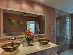 Guest Bathroom showing walk-in shower