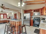 Kitchen opens directly into Living Room