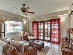Living Room showing French doors to Veranda