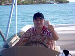 Awesome Edwin our on-site caretaker, concierge, boat captain and BBQ master