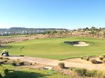 View from balcony overlooking the 17th green