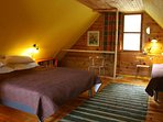 Upstairs you found sleeping floor( 33qm) with 1 double bed and 2 single beds, 2 beds for babies.