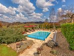 Amazing heated salt water swimming pool with a magnificent view of the valley