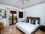 Bedroom 3 main house, 2 single beds or double bed, en suite bathroom ceiling fan and airconditioning