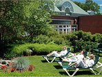 Soak up the sun and relax on the Spa grounds.