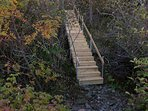 Stairs to water's edge