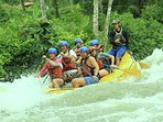 Rafting can be a blast for a nearby activity