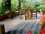 Terrace seating for outdoor eating
