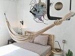 Bedroom no. 2 with hammock