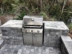 Grill Area with Marble Countertops