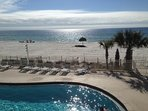 Large beaches and free use of a two person cabana chair with weekly rental