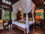 Orange Orchid Room bed & canopy
