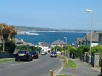 View from road outside of house across Mount's Bay to Marazion.
