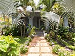 Welcoming Tropical Front Entrance