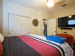 Guest room with King Size Bed and 55 inch TV