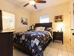 En Suite  bedroom with Queen Size Bed and 55 inch TV