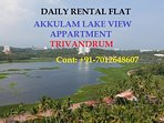 Lake View Apartment Akkulam Trivandrum 3bhk Ac fully furnished Apartment.