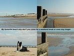 Our beach only 200 yards from our bungalow on the outskirts of Dymchurch