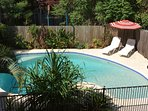 Pool perfect for children with shallow wading area and ideal for adults for relaxing and cooling off