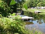 Serene waterway leads into Lower Beverley Lake