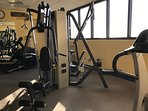 fitness room with treadmills, etc.