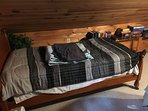 Twin bed in the loft