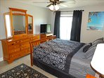 MASTER Bedroom has LARGE Dresser and 3 Mirrors! Notice Flat Screen HDTV!