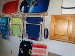 ALL Beach equipment is ready for you!  Boogie Boards, Beach Chairs, Coolers, and MORE!