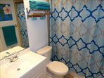 Upstairs HALL Bath features a SHOWER/TUB Combo!