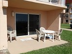 Your private PATIO at Luxury unit #1 - Ready for you to ENJOY vacation Seaside!