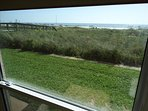 Looking out the window of the master bedroom gives you the INCREDIBLE Beach View!