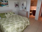Second Bedroom with a LARGE QUEEN BED! Unit #4 at Spansih Main sleeps 4 total!