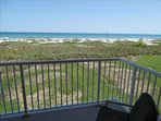 Enjoy your coffee every morning overlooking BEAUTIFUL Cocoa Beach's Blue water!