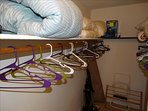 VERY LARGE Walk in closet to hang all of your belongings in the MASTER bedroom!