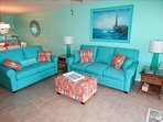 The NEW Sandcastles #702, it is BEAUTIFUL!  Check out the Living Room!  ALL NEW Furniture!