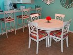 Your NEW Kitchen table and chairs are PERFECT for grabbing a quick meal between beach time!