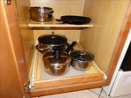 You can cook a FEAST if you'd like!  Look at the Pots and Pans available for your use!