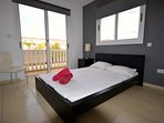 villa sofia ayia napa master bedroom with safe